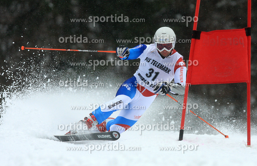 Martin Echser of Switzerland at FIS Telemark World Cup Kobla 2009 race,  on January 18, 2009, in Kobla, Bohinj, Slovenia.  (Photo by Vid Ponikvar / Sportida)