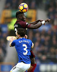 Leighton Baines of Everton challenges Bacary Sagna of Manchester City - Mandatory by-line: Matt McNulty/JMP - 15/01/2017 - FOOTBALL - Goodison Park - Liverpool, England - Everton v Manchester City - Premier League