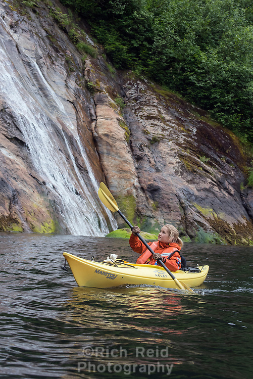 Kayaking in Misty Fjords National Monument in Southeast Alaska.