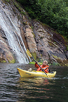 Kayaking in Misty Fjords National Monument in Southeast Alaska.