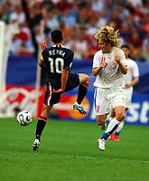 World Cup 2006 Germany Gelsenkirchen 12/06/2006<br />USA  v Czechoslovakia <br />Pavel Nedved (CZECH)<br />Claudio Reyna  (USA)<br />Photo Roger Parker Fotosports International