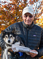 "Tom Brown Laconia, NH.  Tom said ""I voted!  It should be a private day without people holding signs or pressure.  That should end at midnight before election day.  Voted for Hillary Clinton.  (Karen Bobotas/for the Laconia Daily Sun)"
