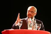 Mannheim. 19.09.17 | SPD-Kanzlerkandidat Martin Schulz im Capitol Mannheim.<br /> Im Wahlkampf zur Bundestagswahl unterstützt Kanzlerkandidat Martin Schulz Mannheims SPD Bundestagsabgeordneter Stefan Rebmann.<br /> <br /> <br /> BILD- ID 2389 |<br /> Bild: Markus Prosswitz 19SEP17 / masterpress (Bild ist honorarpflichtig - No Model Release!)