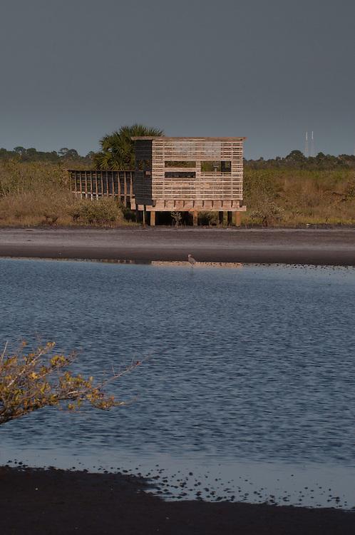 Blind, Merritt Island National Wildlife Refuge, Titusville, Florida, US