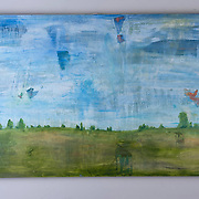 Kansas Landscape, 2014<br /> oil on canvas<br /> 48&quot;x30&quot;<br /> $200.00<br /> by Dona Leon