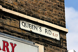 UK ENGLAND LONDON 15AUG06 - Queens Bridge Road street sign in Walthamstow, north London, where Police are investigating an alleged bomb plot...jre/Photo by Jiri Rezac..© Jiri Rezac 2006..Contact: +44 (0) 7050 110 417.Mobile:  +44 (0) 7801 337 683.Office:  +44 (0) 20 8968 9635..Email:   jiri@jirirezac.com.Web:    www.jirirezac.com..© All images Jiri Rezac 2006 - All rights reserved.