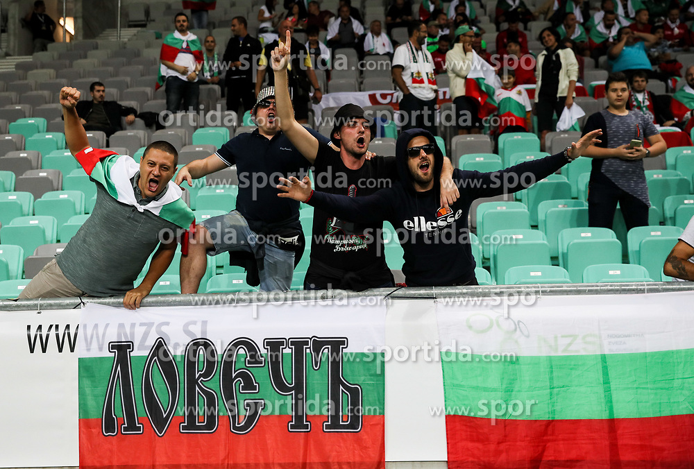 Supporters of Bulgaria during football match between National Teams of Slovenia and Bulgaria in Final Tournament of UEFA Nations League 2019, on September 6, 2018 in SRC Stozice, Ljubljana, Slovenia. Photo by Morgan Kristan / Sportida