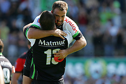 Cedric Rosalen celebrates  after the match winning penalty he scored in the last minute. Montauban defeated big-spending Toulon 21-18 in the Top 14 on Sunday to cap a memorable week for the south-western club. Stade Sapiac, Montauban, France, 6th September 2009.