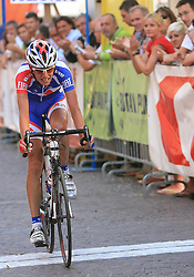 Tomaz Nose (SLO) of Adria Mobil placed second at 1st stage of Tour de Slovenie 2009 from Koper (SLO) to Villach (AUT),  229 km, on June 18 2009, in Koper, Slovenia. (Photo by Vid Ponikvar / Sportida)