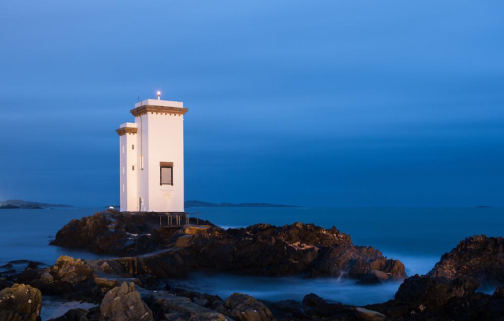 Carraig Fhada lighthouse, Port Ellen, Islay, Scotland