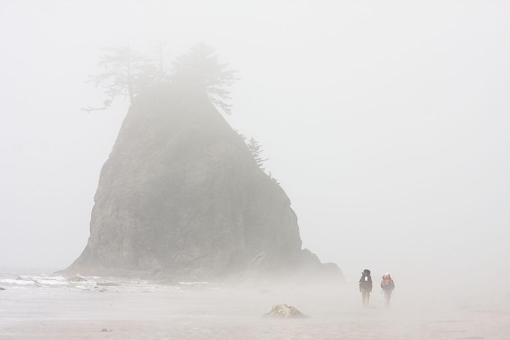 Backpacking the North Coast, Olympic National Park, Washington.