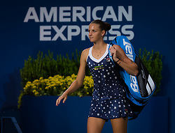 September 4, 2018 - Karolina Pliskova of the Czech Republic in action during her quarter-final match at the 2018 US Open Grand Slam tennis tournament. New York, USA. September 04, 2018. (Credit Image: © AFP7 via ZUMA Wire)