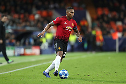 December 12, 2018 - Valencia, Spain - December 12, 2018 - Valencia, Spain - .Antonio Valencia of Manchester United during the UEFA Champions League, Group H football match between Valencia CF and Manchester United on December 12, 2018 at Mestalla stadium in Valencia, Spain (Credit Image: © Manuel Blondeau via ZUMA Wire)
