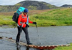 09-07-2014 ISL: Iceland Diabetes Challenge Dag 5, Emstrur<br /> Van Alftavatn naar Emstrur / Annet de Leeuw-den Boer