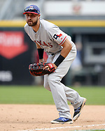 CHICAGO - JULY 01:  Joey Gallo #13 of the Texas Rangers fields against the Chicago White Sox on July 1, 2017 at Guaranteed Rate Field in Chicago, Illinois.  The Rangers defeated the White Sox 10-4.  (Photo by Ron Vesely) Subject:   Joey Gallo
