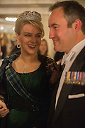 LADY DALMANY; LT. COL CHRISTOPHER PALMER, The Royal Caledonian Ball 2015. Grosvenor House. Park Lane, London. 1 May 2015.