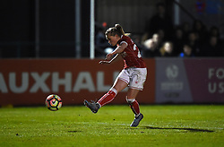Millie Farrow of Bristol City Women takes a shot at goal - Mandatory by-line: Paul Knight/JMP - 28/03/2018 - FOOTBALL - Stoke Gifford Stadium - Bristol, England - Bristol City Women v Birmingham City Ladies - FA Women's Super League