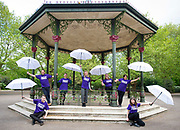 Wandsworth Arts Fringe launch <br />At the Bandstand in Battersea Park, London, Great Britain <br />2nd May 2019 <br /><br />volunteers help to  launch the Wandsworth Arts Fringe a borough wide arts festival that runs from May 3 to 19 2019 <br /> <br /><br />Photograph by Elliott Franks