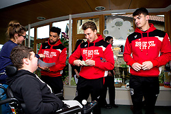 Luke Freeman, Scott Golbourne and Max O'Leary sign autographs during Bristol City's visit to the Children's Hospice South West at Charlton Farm - Mandatory by-line: Robbie Stephenson/JMP - 21/12/2016 - FOOTBALL - Children's Hospice South West - Bristol , England - Bristol City Children's Hospice Visit