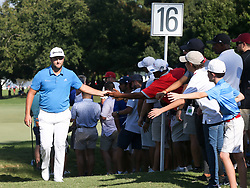 September 21, 2018 - Atlanta, Georgia, United States - Jon Rahm walks off the 16th green during the second round of the 2018 TOUR Championship. (Credit Image: © Debby Wong/ZUMA Wire)