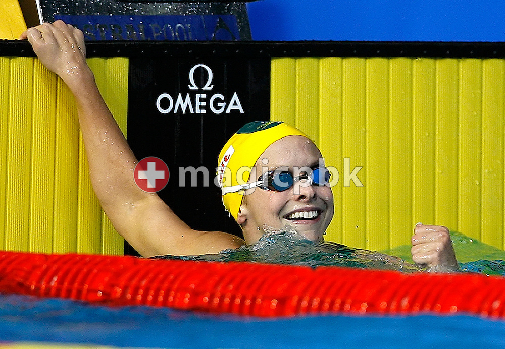 Lisbeth (Libby) Lenton of Australia jubilates after winning in the  women's 100m freestyle final in the Susie O'Neill pool at the FINA Swimming World Championships in Melbourne, Australia, Friday 30 March 2007. (Photo by Patrick B. Kraemer / MAGICPBK)