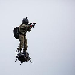 D&eacute;monstration en Seine du Commandement des Op&eacute;rations Sp&eacute;ciales lors du 1er Forum Innovation D&eacute;fense. Pr&eacute;sentation de l'utilisation de drones a&eacute;riens d'observation, du drone nautique REMORINA, et intervention de commandos marine depuis l'embarcation rapide ECUME.<br /> Novembre 2018 / Paris (75) / FRANCE<br /> Voir le reportage complet https://sandrachenugodefroy.photoshelter.com/gallery/2018-11-Demonstration-du-COS-en-Seine-Complet/G0000JcoPjzMD.TE/C0000yuz5WpdBLSQ