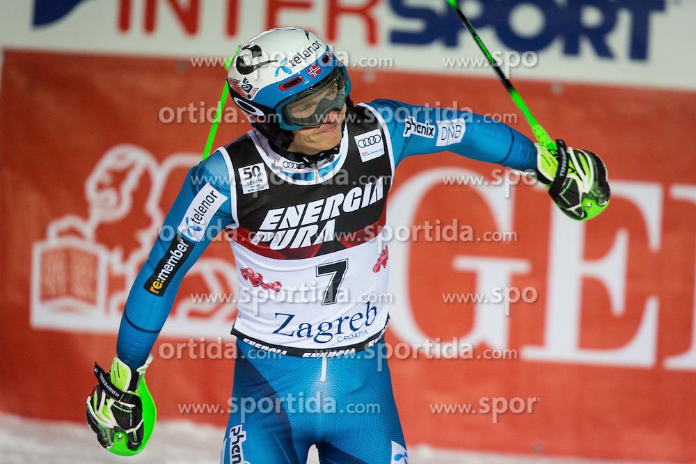 "Henrik Kristoffersen (NOR) during FIS Alpine Ski World Cup 2016/17 Men's Slalom race named ""Snow Queen Trophy 2017"", on January 5, 2017 in Course Crveni Spust at Sljeme hill, Zagreb, Croatia. Photo by Ziga Zupan / Sportida"