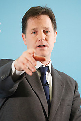 © licensed to London News Pictures. London, UK 26/02/2014. Deputy Prime Minister Nick Clegg holding a Q&A session with journalists at Dover House, London on Wednesday, 26 February 2014. Photo credit: Tolga Akmen/LNP