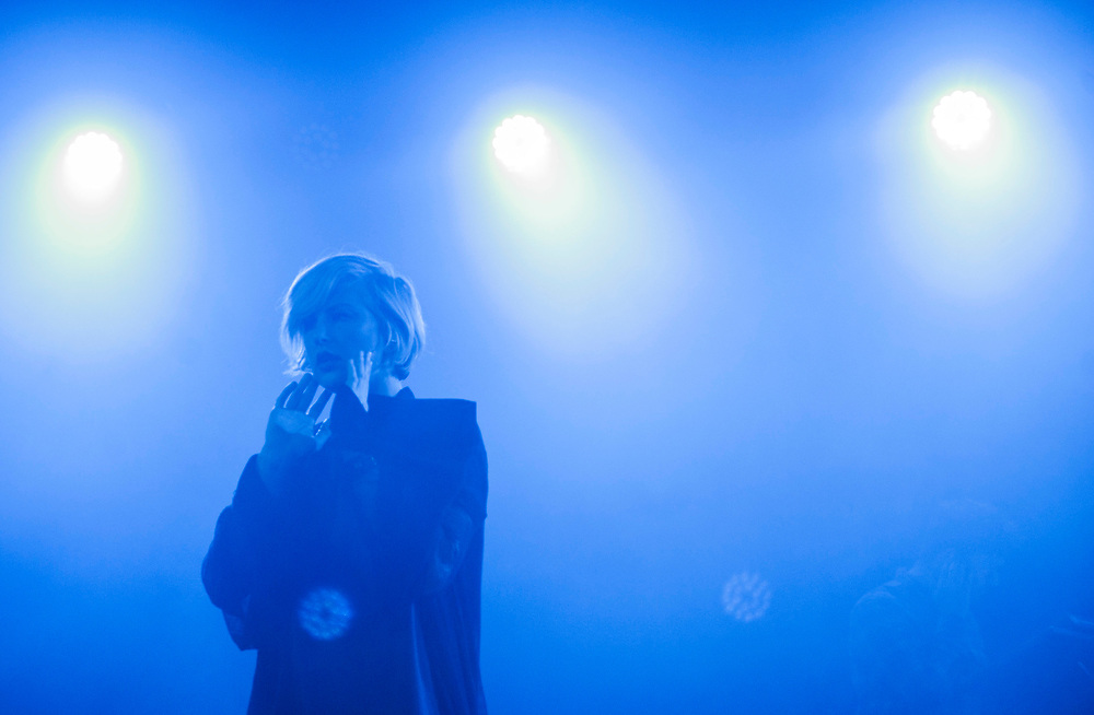 Sarah Barthel of Phantogram at The Glass House in Pomona April 23, 2017.