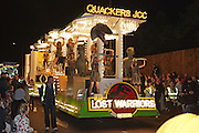 Quackers Juniro Carnival Club entry in 2011, Lost Warriors. Bridgwater Carnival is an annual event to raise money for local charities. It is widely reputed to be the largest illuminated carnival in the world.