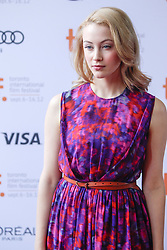 Actress SARAH GADDON  prior to the live reading of 'American Beauty', conducted by Jason Reitman at the 2012 Toronto International Film Festival, Thursday September 6, 2012. Photo by Christopher Drost/i-Images