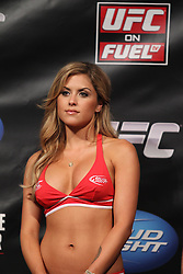 Fairfax, VA - May 14, 2012: Brittany Palmer during the UFC on FUEL TV 3 weigh-in at the Patriot Center in Fairfax, Virginia.