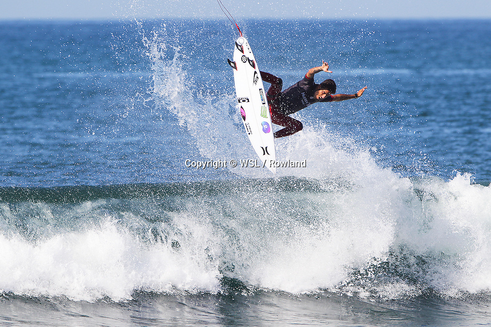 Filipe Toledo placed second in Semifinal Heat 1 against Jordy Smith at the Hurley Pro Trestles.