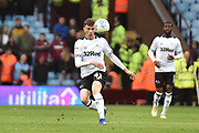 Derby County midfielder Max Bird (41) looks to release the ball during the EFL Sky Bet Championship match between Aston Villa and Derby County at Villa Park, Birmingham, England on 2 March 2019.