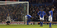 Fotball<br /> England 2004/2005<br /> Foto: SBI/Digitalsport<br /> NORWAY ONLY<br /> <br /> Ipswich Town v West Ham United<br /> The Coca Cola Championship. Play Off Semi Final Second Leg.<br /> 18/05/2005<br /> <br /> Ipswich's L-R<br /> Kelvin Davis, Jim Magilton, Fabian Wilnas and Matt Richards look gutted after West Ham's second goal.
