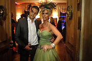 JUSTIN RICHARDS; KIRSTY SHAW-SHERIF,  IVth annual BloodLust Ball  Hampton Court House. Hampton Court. London. 31 October 2009