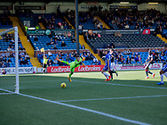 The linesman's flag denies Dundee&rsquo;s Kevin Gomis a first half goal - Kilmarnock v Dundee in the Ladbrokes Scottish Premiership at Rugby Park, Kilmarnock, Photo: David Young<br /> <br />  - &copy; David Young - www.davidyoungphoto.co.uk - email: davidyoungphoto@gmail.com