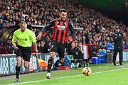 Joshua King (17) of AFC Bournemouth on the attack during the Premier League match between Bournemouth and Huddersfield Town at the Vitality Stadium, Bournemouth, England on 4 December 2018.