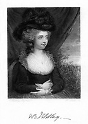 Fanny (Frances) Burney, Madame D'Arblay (1752-1840) English novelist, 1843.  Daughter of the musicologist Dr Charles Burney, in 1793 she married General d'Arblay, a French refugee. Her three major novels are 'Evelina' (1778), 'Cecilia' (1782) and 'Camilla' (1796). From 'Diary and Letters of Madame D'Arblay' by Fanny Burney. ( London, 1843).
