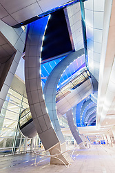 Modern architecture at Terminal 3 at Dubai International Airport United Arab Emirates