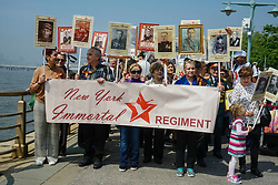 May 4, 2019 - The Immortal Regiment procession commemorating Russian World War II heroes has been held for the fifth consecutive year in New York gathering a record number of participants - over 2,000 people..On May 9, the Red Army with allies defeated Nazi Germany.The participants, who are descendants of veterans from Ukraine, Belarus, the Baltic countries and other former Soviet republics. feel it is  important to  celebrate the victory of humanity over Nazism. (Credit Image: © Nancy Siesel/ZUMA Wire)
