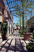 Palm Desert CA El Paseo Drive, The Gardens Shopping Mall, picture-postcard floral, Art Sculptures, statue-filled