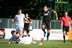Amadej Maroša of Mura and Adam Vošnjak of Rudar during football match between NS Mura and NK Rudar in 6th Round of 6th Round of Prva liga Telekom Slovenije 2019/20, on Avgust 18, 2019 in Fazanerija, Murska Sobota, Slovenia. Photo by Blaž Weindorfer / Sportida