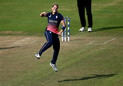 Katherine Brunt of England Women celebrates taking the wicket of Alex Blackwell of Australia Women - Mandatory by-line: Robbie Stephenson/JMP - 09/07/2017 - CRICKET - Bristol County Ground - Bristol, United Kingdom - England v Australia - ICC Women's World Cup match 19