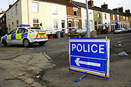 Police launch a murder inquiry after a 21-year-old Wellingborough man is killed in Kettering, Northamptonshire on Monday 16th february 2009.<br />
