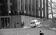 705/4-3 (13A/14)...  An ambulance drives near Taylor Hall shortly after the shootings May 4, 1970.