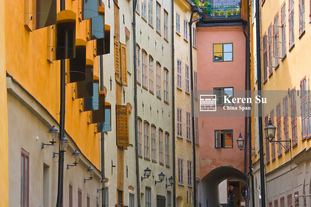 Houses in the old town, Stockholm, Sweden