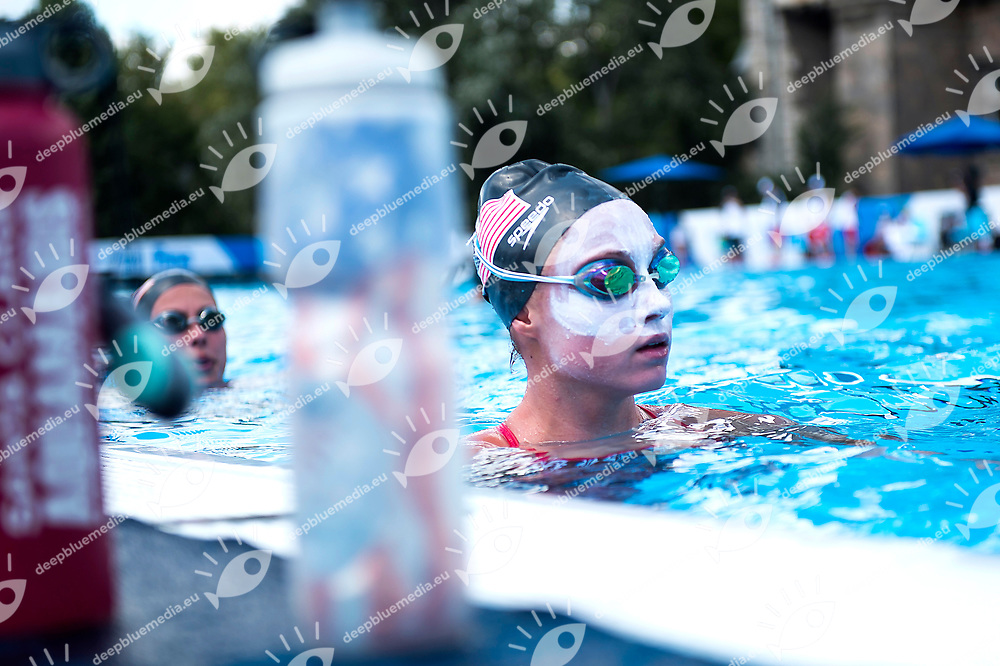 Team USA during the training session<br /> Synchronised swimming , Synchro<br /> 12/07/2017 <br /> XVII FINA World Championships Aquatics<br /> City Park - Varosliget Lake<br /> Budapest Hungary July 14th - 30th 2017 <br /> Photo @ Giorgio Perottino/Deepbluemedia/Insidefoto
