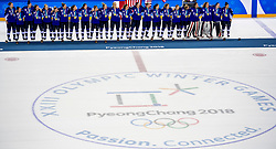 22-02-2018 KOR: Olympic Games day 13, PyeongChang<br /> Final Ice Hockey Canada - USA 2-3 / Team USA viert feest en pakt de gouden medaille