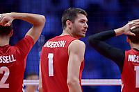 Matthew Anderson of USA<br /> Torino 30-09-2018 Pala Alpitour <br /> FIVB Volleyball Men's World Championship <br /> Pallavolo Campionati del Mondo Uomini <br /> Finals / 3th place<br /> Serbia - USA  <br /> Foto Antonietta Baldassarre / Insidefoto